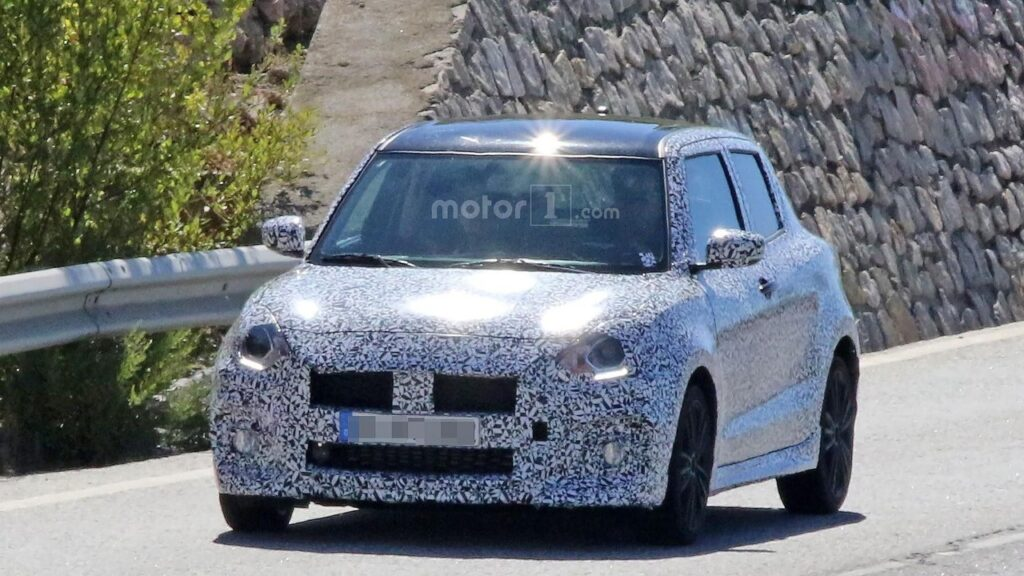 2017 Swift Sport Spied Testing- Shows Twin Exhausts 7
