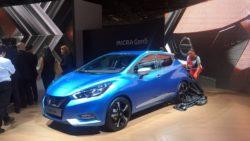 2017 Nissan Micra front three quarter in Paris