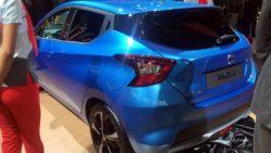 2017 Nissan Micra rear three quarter in Paris