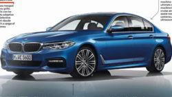 BMW 5 Series 2017 side blue leaked