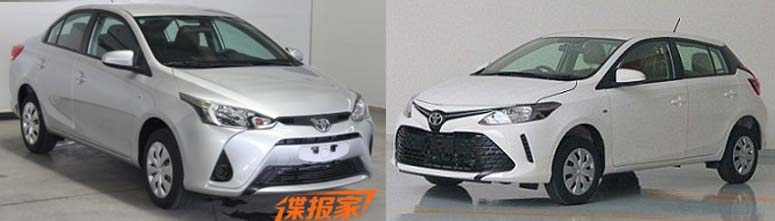 Toyota Vios Hatch, Yaris L Sedan Leaked Out In China 5