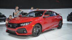 Honda Civic Si Prototype front three quarters at 2016 LA Auto Show 1024x683