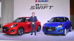 2017 Suzuki Swift front three quarters left side Japan launch event