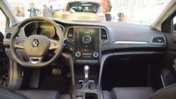 Renault Megane Sedan interior dashboard at 2016 Bologna Motor Show