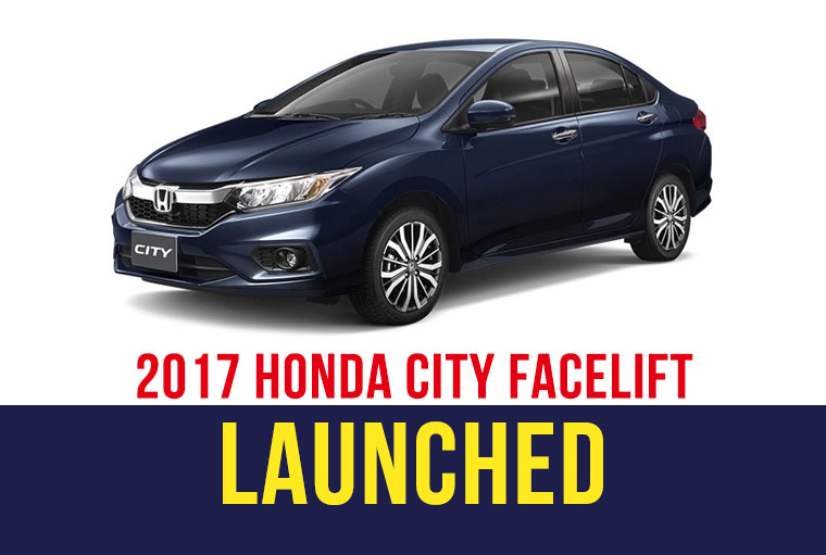 2017 Honda City Facelift Launched in Thailand 2