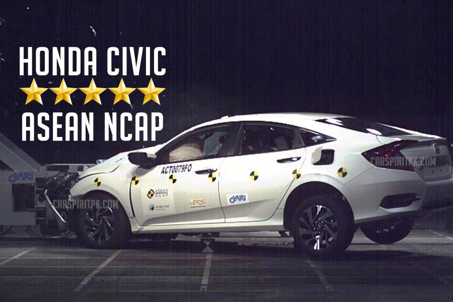 5 Star ASEAN NCAP rating for 10th Generation Honda Civic 1