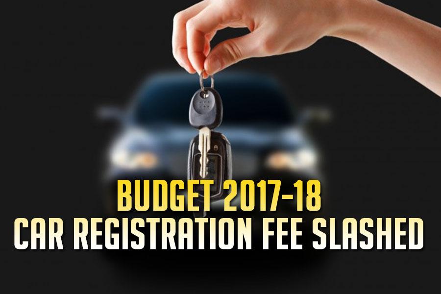 Car Registration Fee Slashed in Budget 2017-18 1