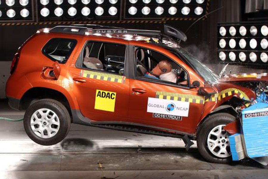 Indian Renault Duster Scores Zero Star in Global NCAP Crash Test 6
