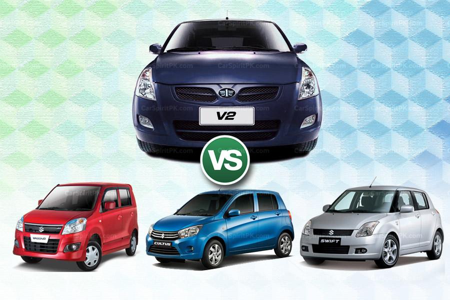 How FAW V2 Stacks Up Against Three Suzuki Hatchbacks 10