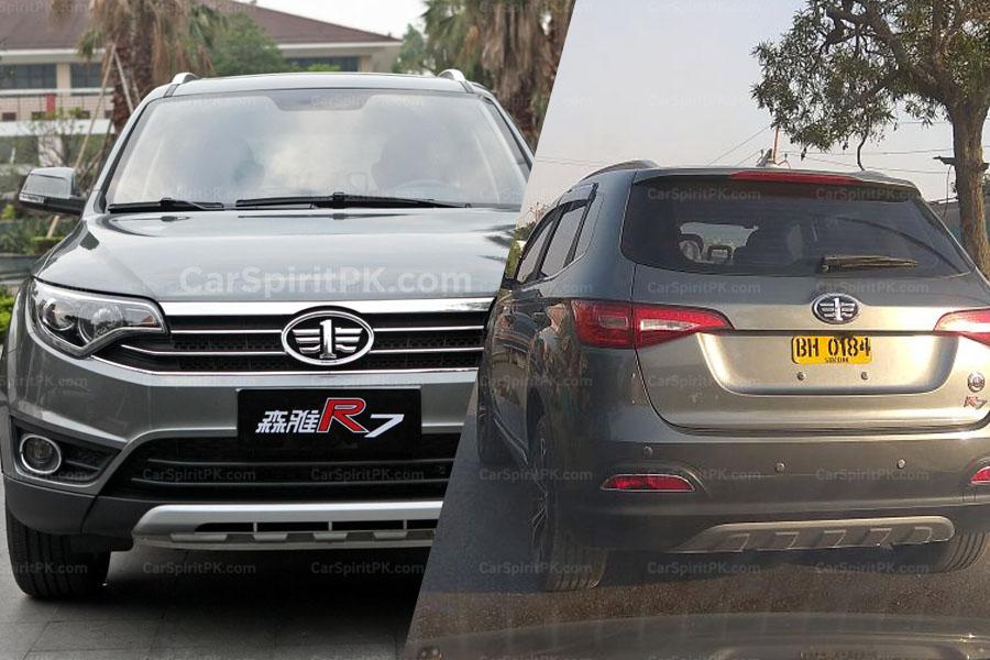 FAW R7 SUV Spotted Testing in Karachi 2