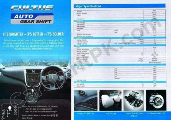 Pak Suzuki to Launch Cultus VXL with Auto Gear Shift 1