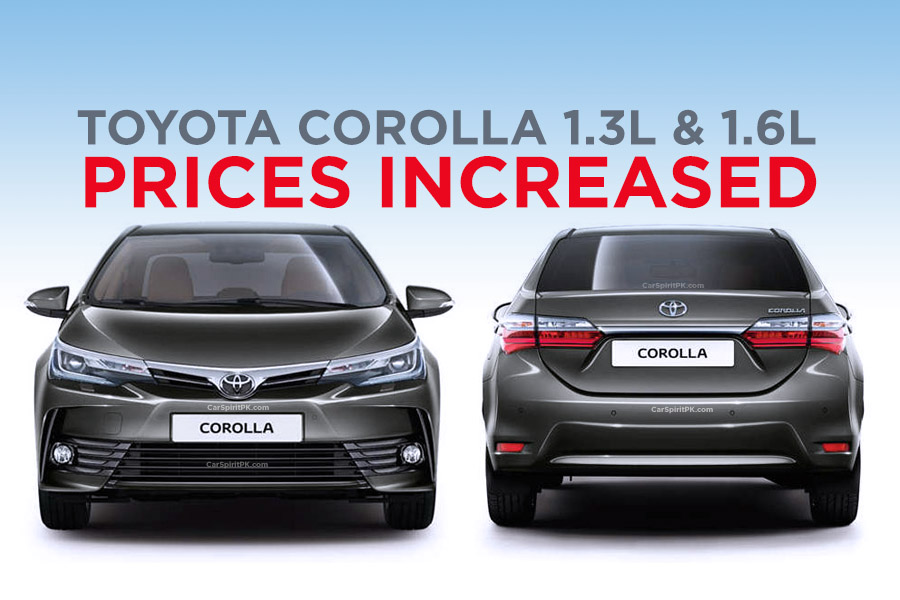 Indus Motors Increase Corolla 1.3 and 1.6 Prices 9
