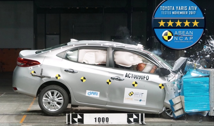 2018 Toyota Yaris Ativ Gets 5-Star ASEAN NCAP Rating 8