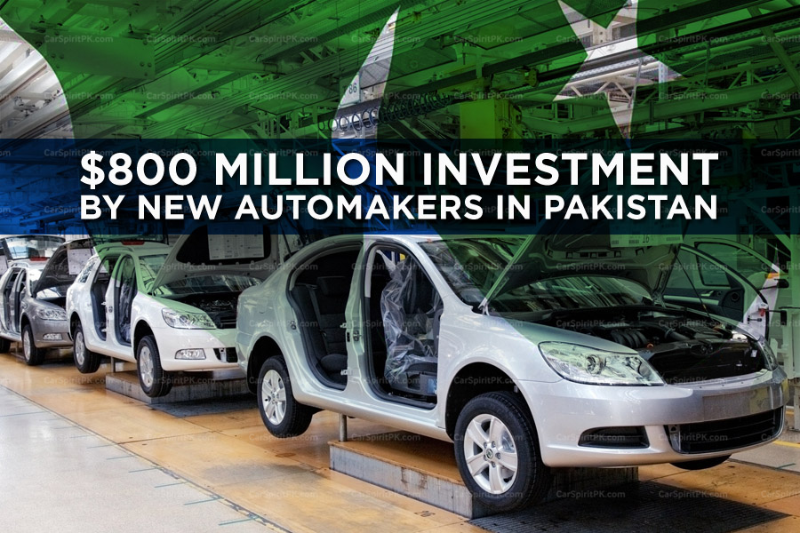 New Automakers to Invest Over $800 Million in Pakistan 1
