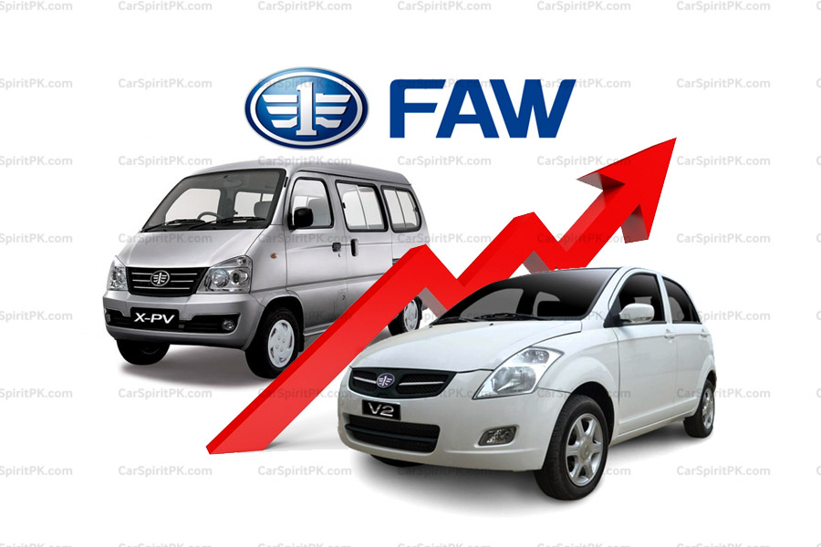 FAW Car Prices Revised 2