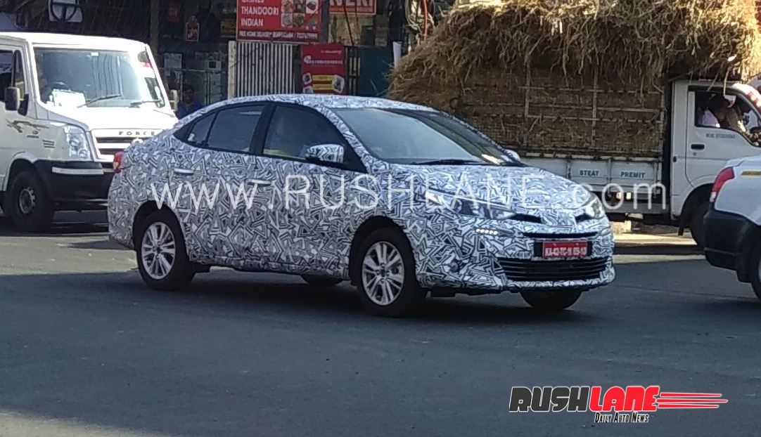 Toyota Vios Spied in India- Launched Expected by April 2018 7