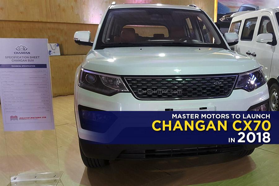Master Motors Showed Changan CX70 SUV at 2018 ITIF 3