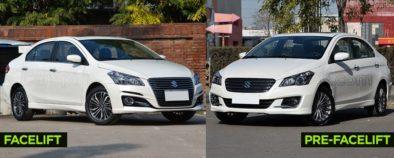 Visual Comparison: Suzuki Alivio Pro (Ciaz) Pre-Facelift vs Facelift 4