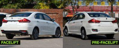 Visual Comparison: Suzuki Alivio Pro (Ciaz) Pre-Facelift vs Facelift 5