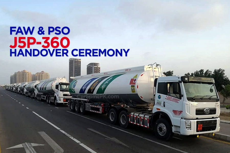 FAW Delivers OGRA Compliant J5P-360 Trucks to PSO 5
