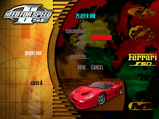Remembering Need For Speed II-SE and It's Cars 10