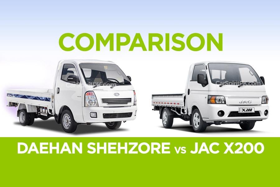 Comparison: Daehan Shehzore vs JAC X200 5