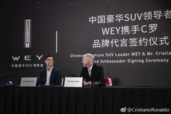 WEY Signs Cristiano Ronaldo as Brand Ambassador 5