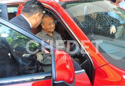 Malaysian Prime Minister Dr. Mahatir Mohammad Impressed with Geely Boyue 9