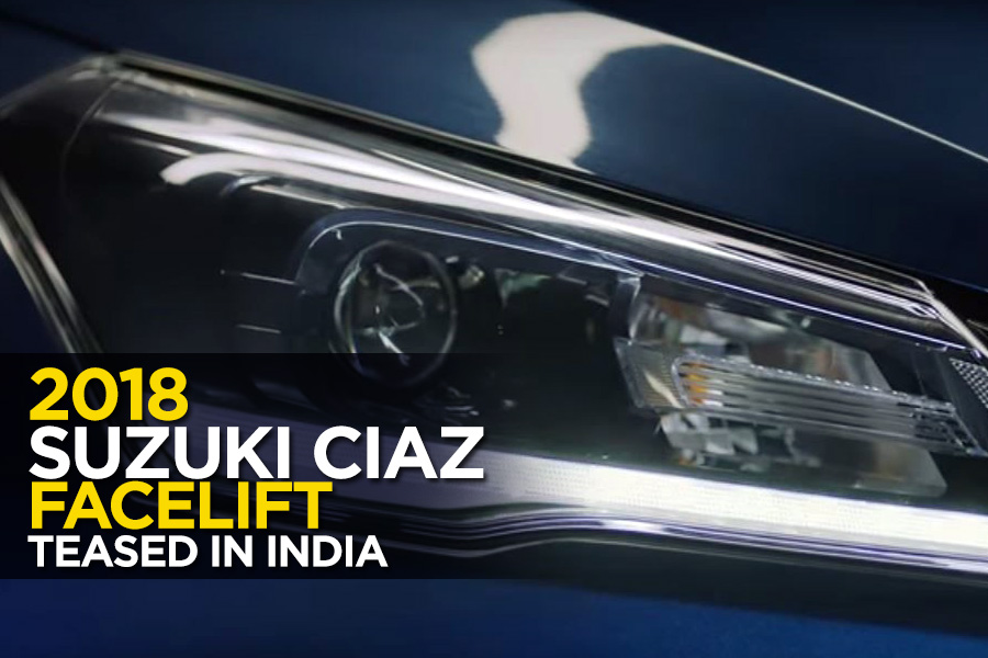2018 Suzuki Ciaz Facelift Teased in India 3