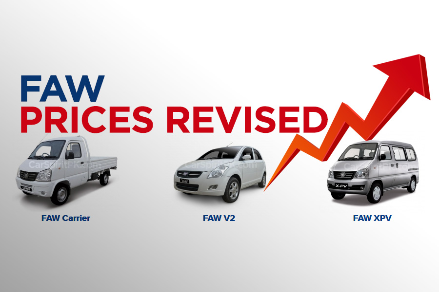 FAW Car Prices Increased 2