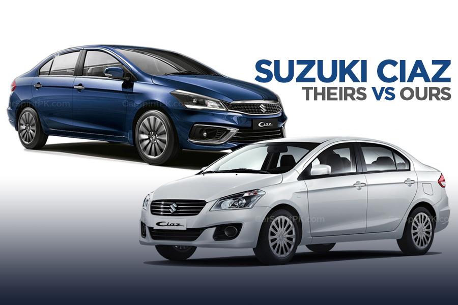 Pak Suzuki Ciaz vs Maruti Ciaz 1