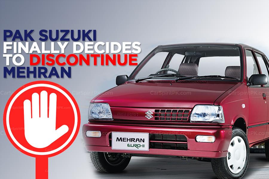 Pak Suzuki to Finally Discontinue Suzuki Mehran 7