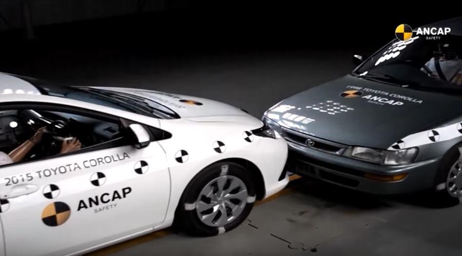 2015 Corolla vs 1998 Corolla Crash Test 3