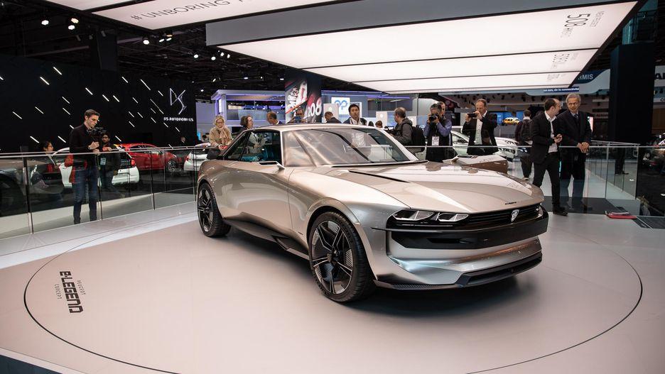 Retro-Styled Peugeot E-Legend Debuts at Paris Motor Show 3