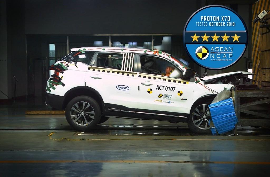 Proton X70 gets 5 stars in ASEAN NCAP Crash Test 4