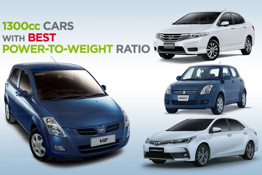 1300cc Cars with Best Power-to-Weight Ratio in Pakistan 1