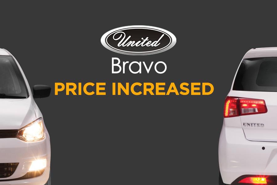 United Bravo Price Increased 4
