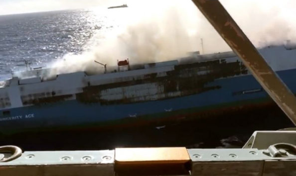Cargo Ship Carrying 3,500 Nissan Cars Caught Fire 4