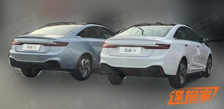 First Spy Shots: Geely GE11 Electric Sedan 9