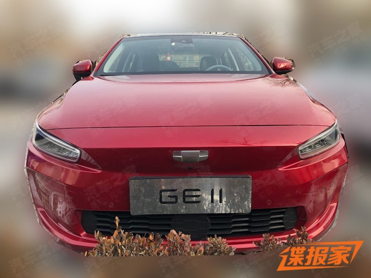 First Spy Shots: Geely GE11 Electric Sedan 1