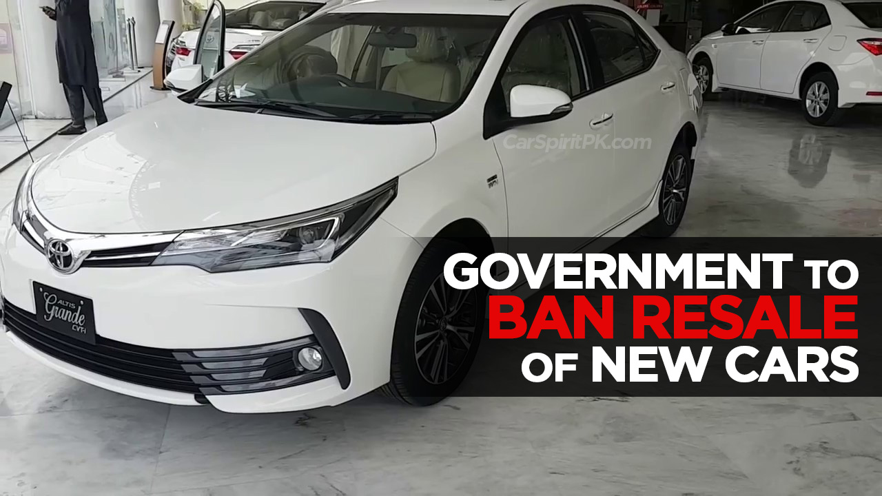 Government to Ban Resale of New Vehicles 3