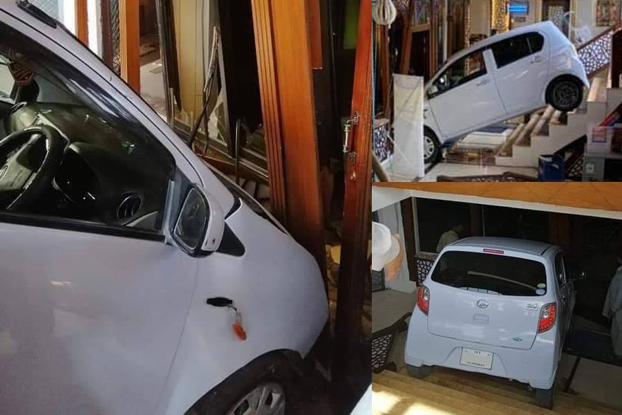 Female Driver Crashes Her Car Into a Restaurant 3