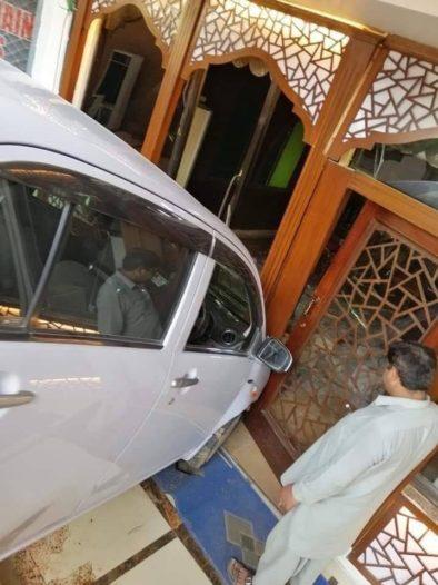 Female Driver Crashes Her Car Into a Restaurant 2