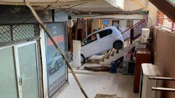 Female Driver Crashes Her Car Into a Restaurant 4