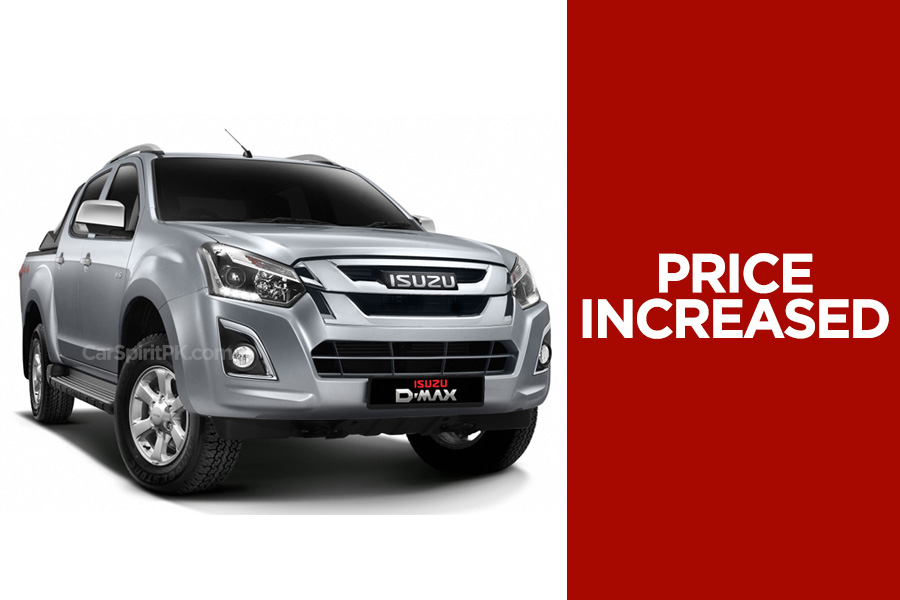 Isuzu D-MAX Prices Increased by PKR 200,000 4