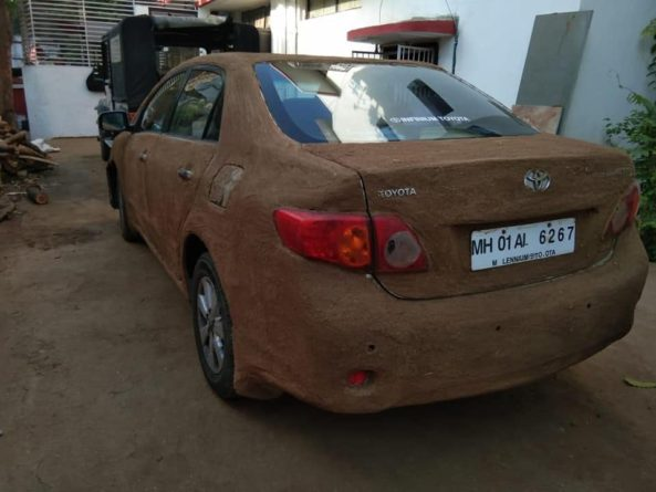 The Toyota Corolla Coated with Cow Poop 2