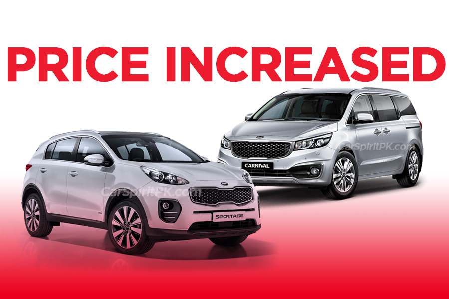 Kia Sportage and Grand Carnival Price Increased 1