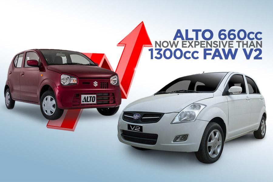 Pak Suzuki Alto Becomes Even More Expensive Than FAW V2 10