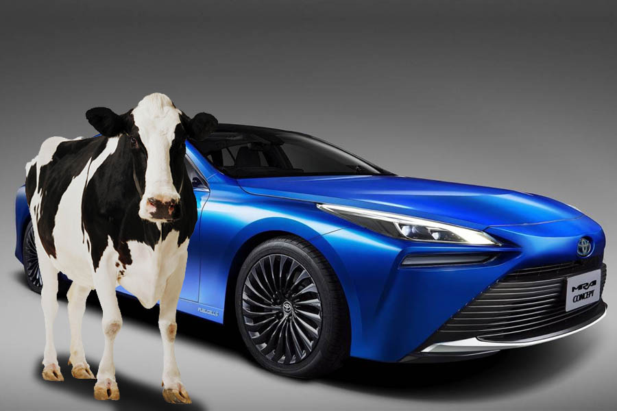 Toyota's New Car can Run on Hydrogen from Cow Manure 4
