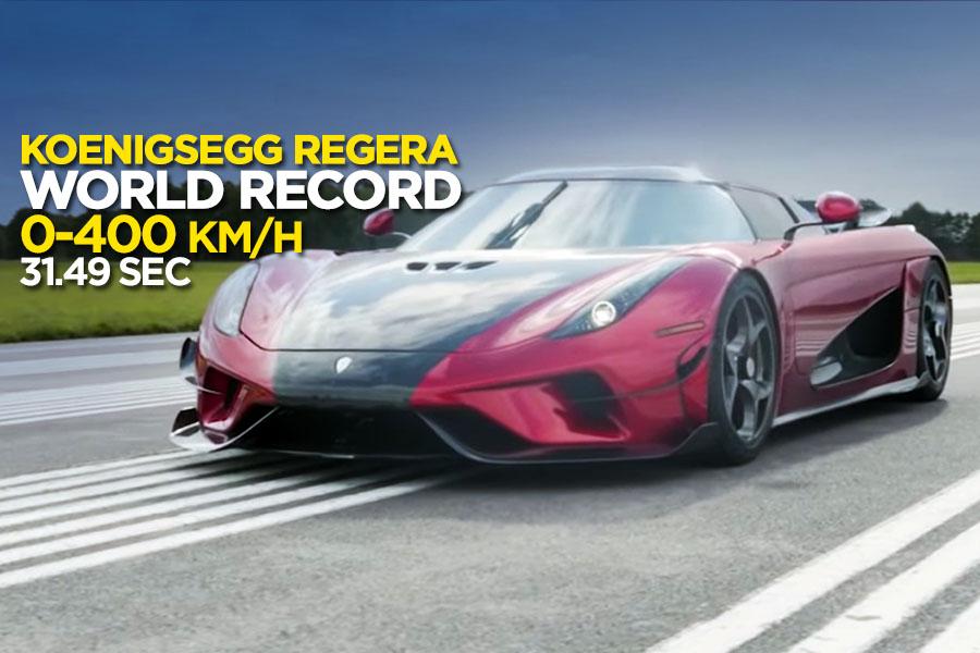 Koenigsegg Regera sets a New 0-400-0 km/h Record 1